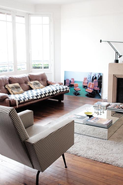 canapé cuir, fauteuil kvadrat