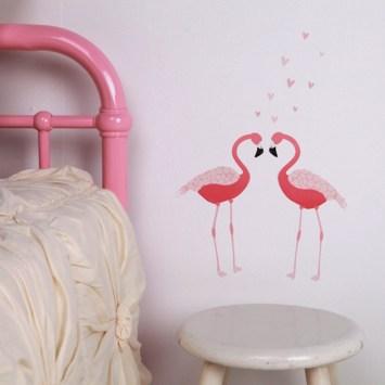 Stickers flamingoes pour enfants de Love Mae