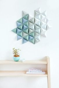 photo decoration murale origami