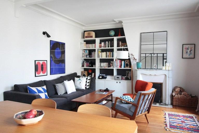 Appartement Parisien Julie Chevillat Créatrice de Coussin Germain