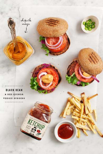burger-quinoa-haricots-rouge