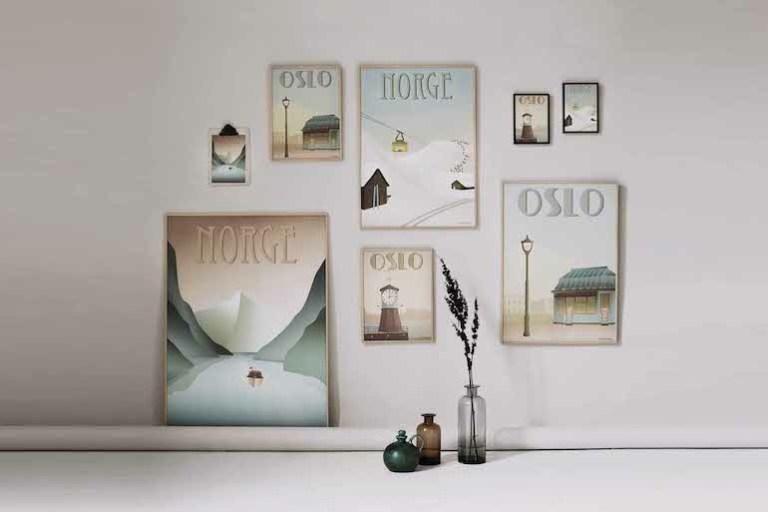 Affiches vintage scandinaves Vissevasse