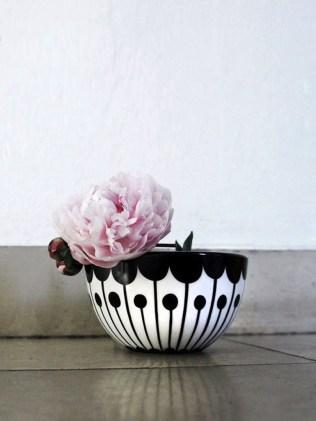 Frjor porcelaine noir et blanc