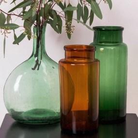 Petit Florilège Bocal vase verre_colore_vintage