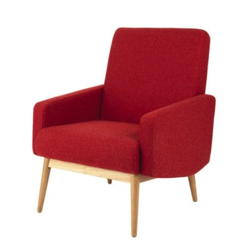 fauteuil rouge vintage Maisons du Monde