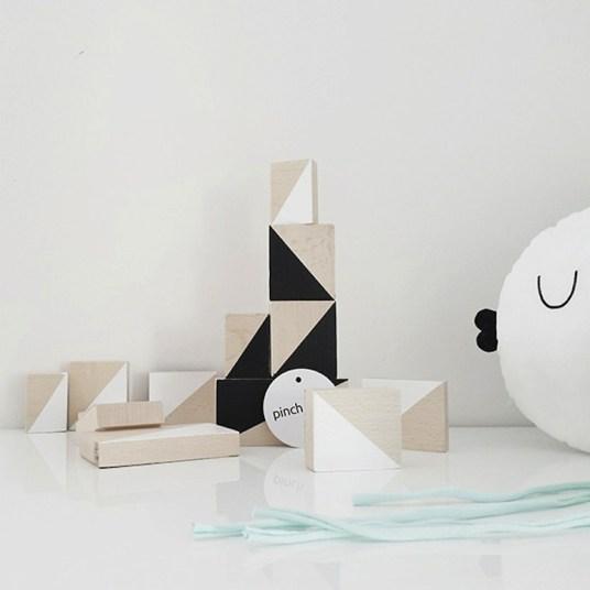 Pinch Toys Minimal Monochrome Kids Toys-triangles