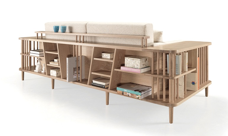 Scaffold sofa wewood