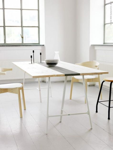 Amazing ikea hack hll blogzine une table pure with table - Table a roulettes ikea ...