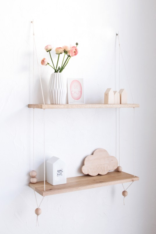 DIY Hanging Shelf // Hëllø Blogzine www.hello-hello.fr