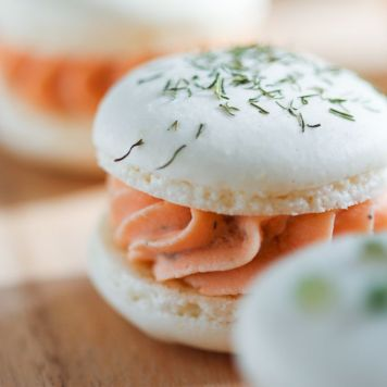 Macarons saumon fumé