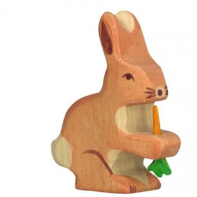 Jouet en bois holztiger lapin avec carotte / - Hëllø Blogzine - www.hello-hello.fr