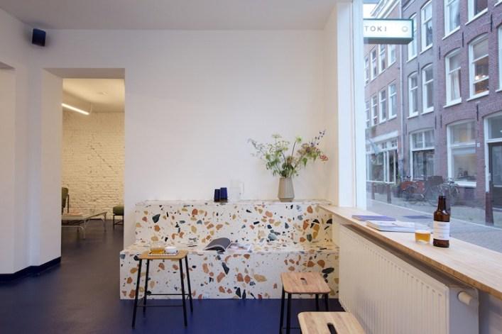 tendance mouchete terrazzo cafe amsterdam /Hëllø Blogzine - www.hello-hello.fr