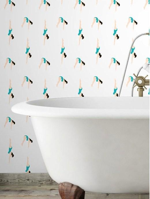 Papiers peints et décors muraux arty et graphique Papermint // Hëllø Blogzine blog deco & lifestyle www.hello-hello.fr
