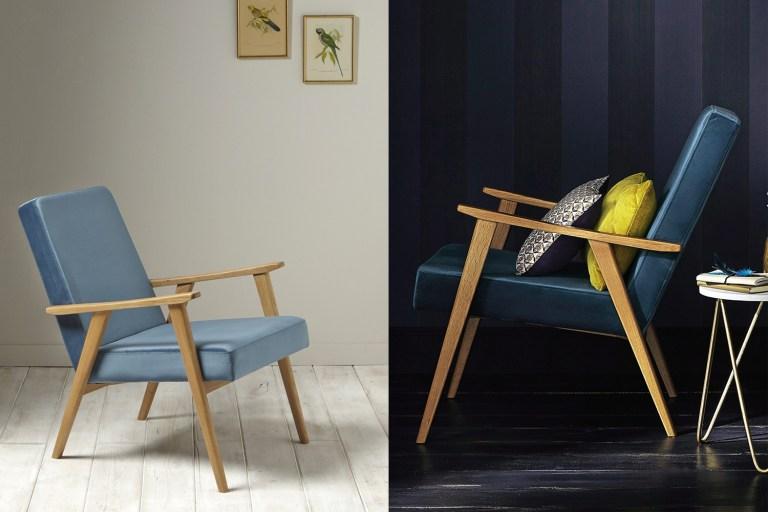 Velvet armchair fauteuil rétro scandinave// Hëllø Blogzine blog deco & lifestyle www.hello-hello.fr