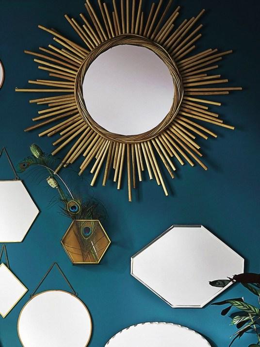 miroir soleil rotin Tendance Rétropicale, // Hëllø Blogzine blog deco & lifestyle www.hello-hello.fr