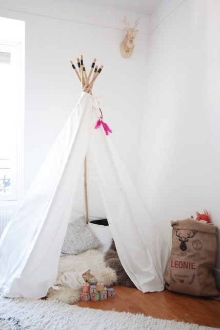 incontournable tendance tipi pour la chambre des enfants. Black Bedroom Furniture Sets. Home Design Ideas