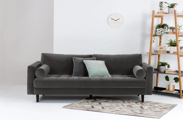 canape velours best canape velours vert vicky canapac canapac places fixe en velours vert. Black Bedroom Furniture Sets. Home Design Ideas