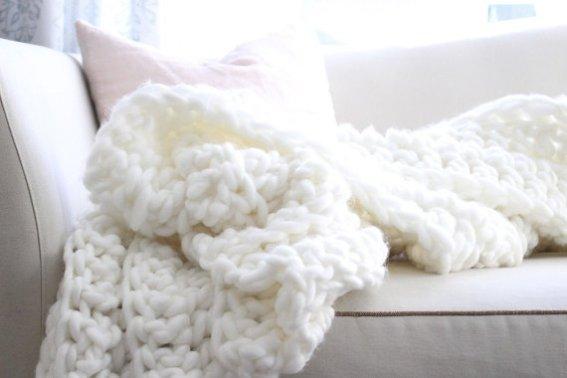 O trouver un plaid en laine avec des grosses mailles - Grosse laine chunky ...