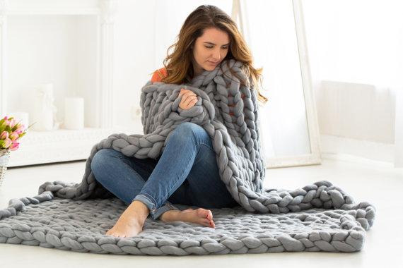 O trouver un plaid en laine avec des grosses mailles - Plaid maille geante ...