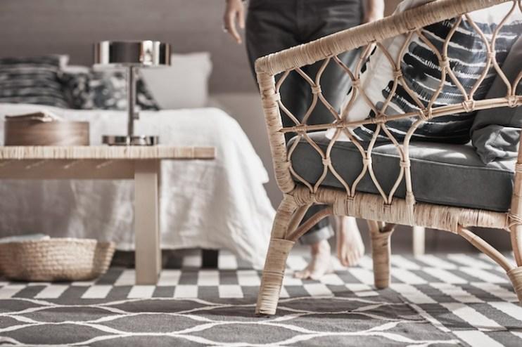 Fauteuil en rotin Ikea collection Stockholm // Hëllø Blogzine blog deco & lifestyle #rattan #rotin