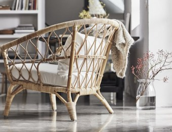 Fauteuil en rotin Ikea collection Stockholm // Hëllø Blogzine blog deco & lifestyle #rattan #rotin