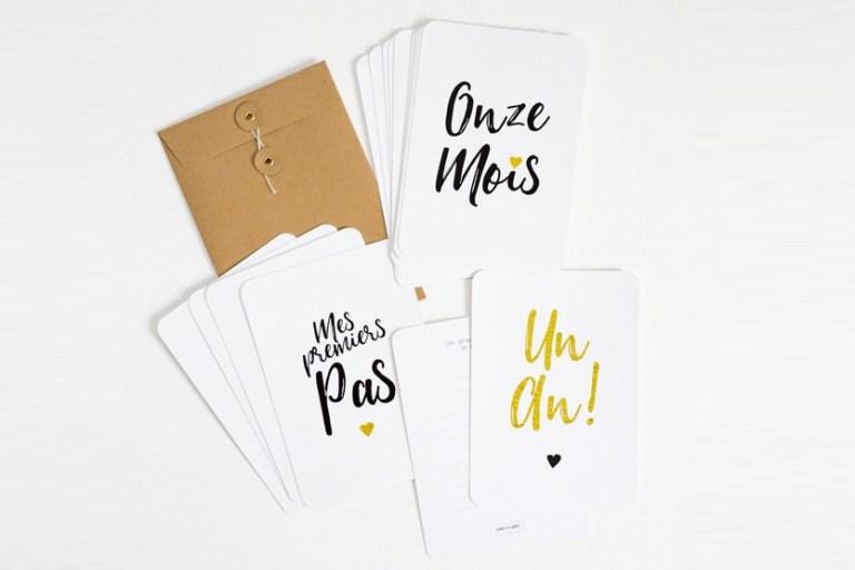 Milestones Cards Baby // Hëllø Blogzine blog deco & lifestyle www.hello-hello.fr #milestones #babycards