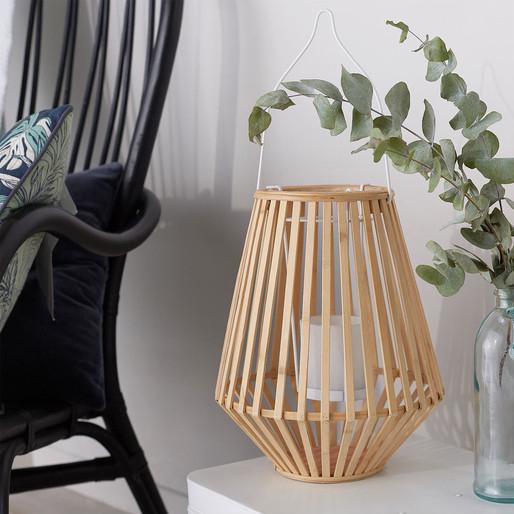 Lanterne en bambou. Collection Déco Monoprix Rentrée 2017 // Hëllø Blogzine blog deco & lifestyle www.hello-hello.fr