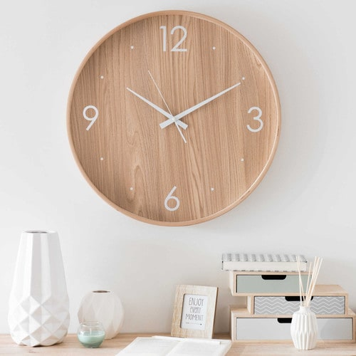 Top horloge en bois maisons du monde hll blogzine blog for Horloge parlante sydney