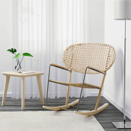 Oui, ce fauteuil en rotin à bascule vient de chez Ikea ! // Hëllø Blogzine blog deco & lifestyle www.hello-hello.fr