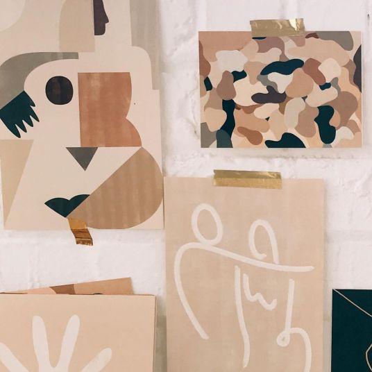 Tendance décoration art abstrait pour un style atelier d'artiste - Arty home decor // Hellø Blogzine blog deco & lifestyle www.hello-hello.fr