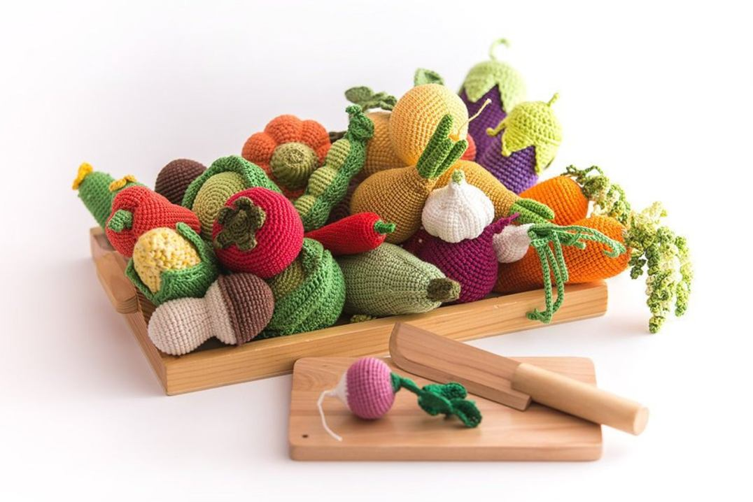 Fruits et légumes en bois, en crochet et en feutrine // Hellø Blogzine blog deco & lifestyle www.hello-hello.fr