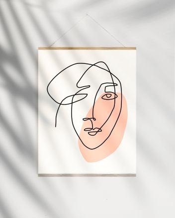 Quand l'art du dessin en un seul trait s'empare de la déco // Hellø Blogzine blog deco lifestyle www.hello-hello.fr