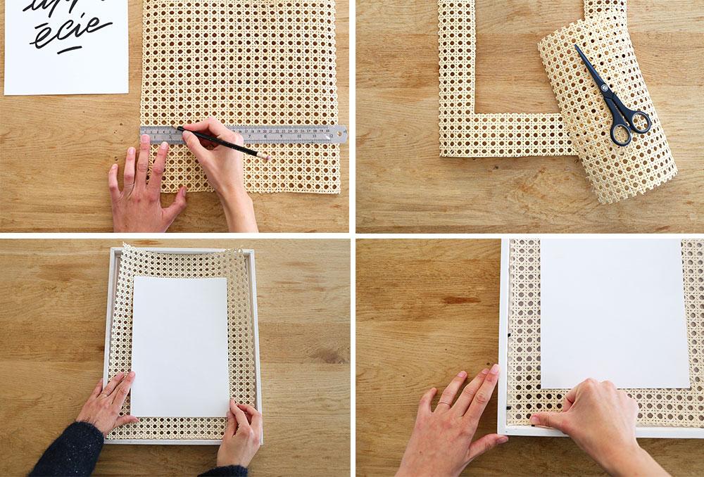DIY : un cadre avec du cannage // Hellø Blogzine blog deco & lifestyle www.hello-hello.fr