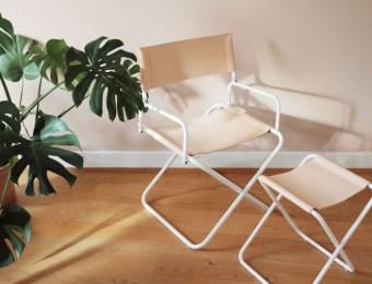 Le fauteuil pliant de Glamping Lafuma x Bleu de Chauffe // Hellø Blogzine blog deco & lifestyle www.hello-hello.fr