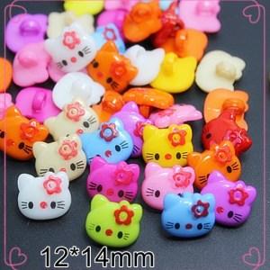 Boutons Hello Kitty résine 1 trou
