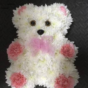 Teddy Funeral Flowers
