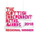 Regional Winner Logo Scottish Independent Retail Awards 2018