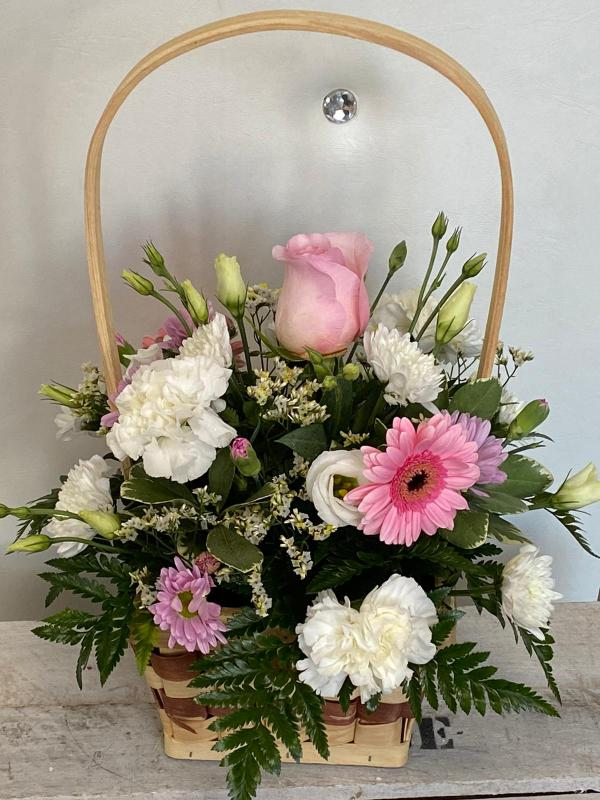 White & Pink Basket