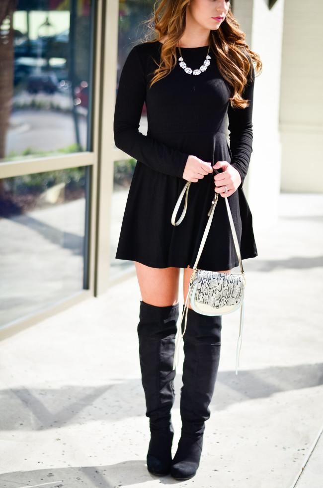 Black Skater Dress-7