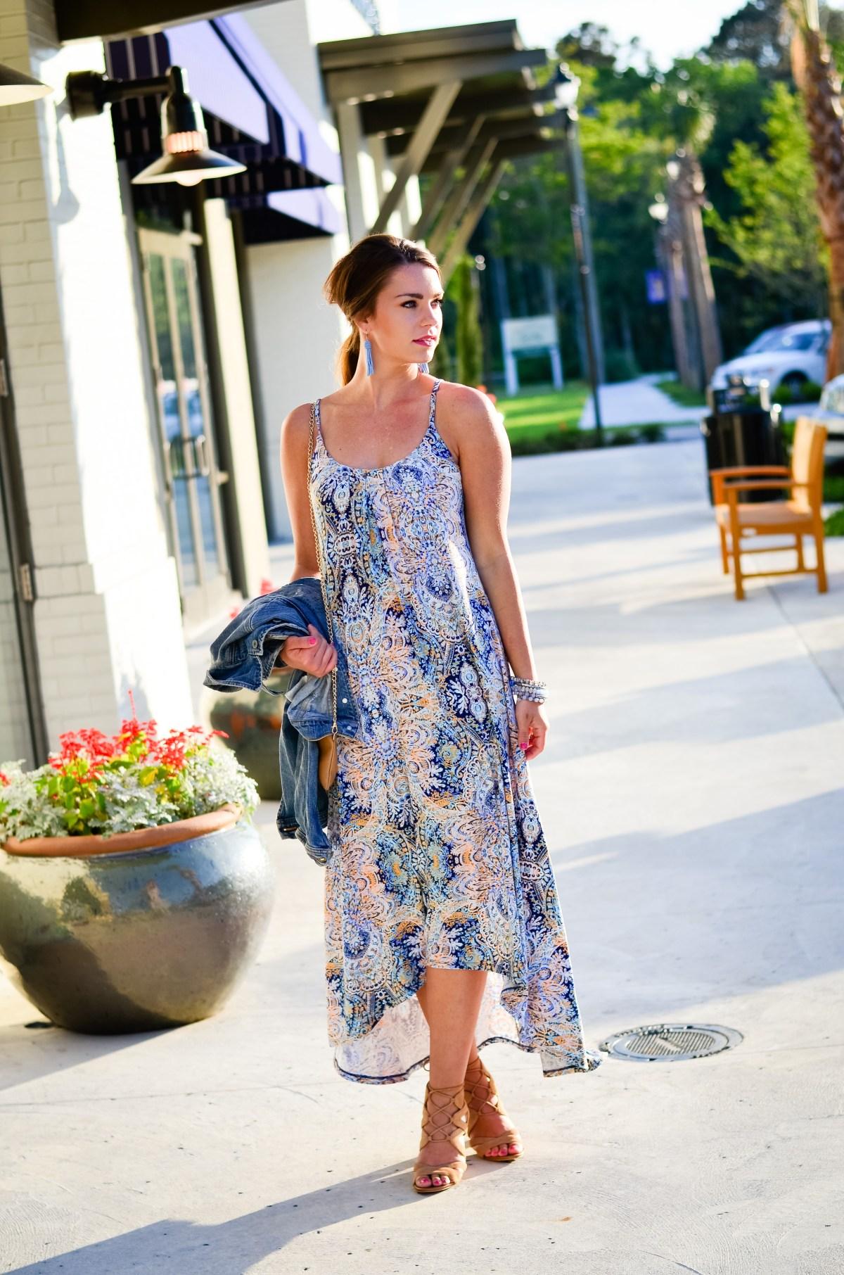 Paisley Maxi Dress-11