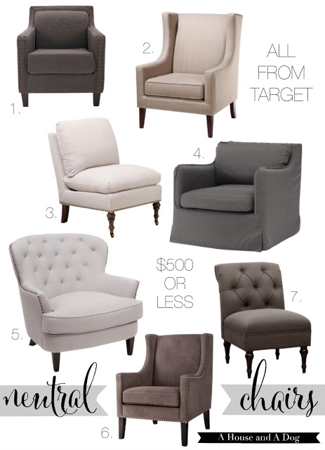 neutral tufted chairs at target