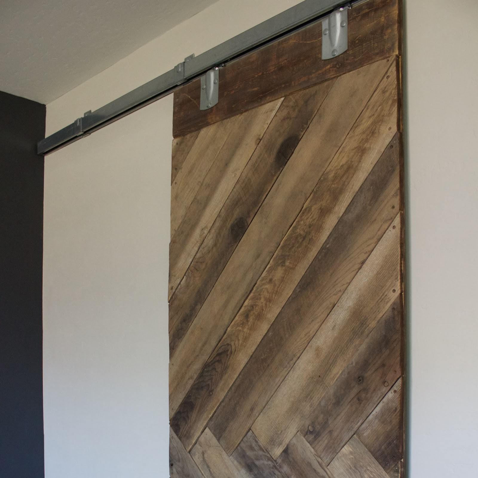 Diy Sliding Barn Door. Okay So Here Is How I Did It U2013 We Had Some Old Fence  Boards From Our Old House That I Made Joe Save For Me Because I Knew One  Day I ...