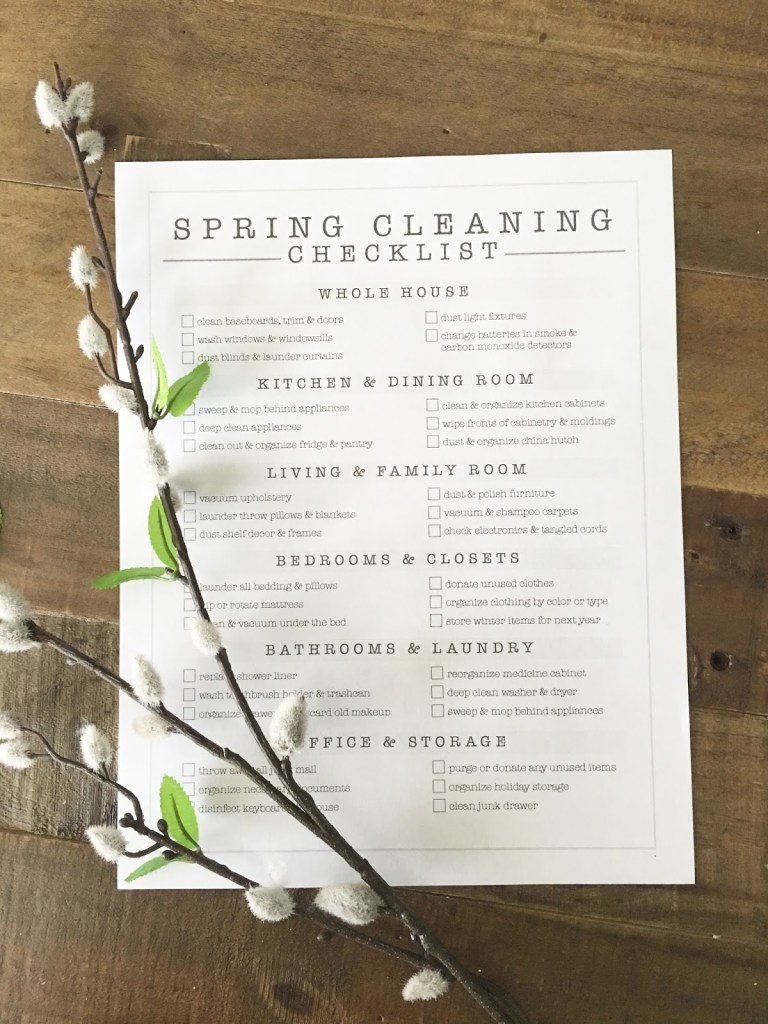 Spring Cleaning Checklist FREE PRINTABLE | helloallisonblog.com