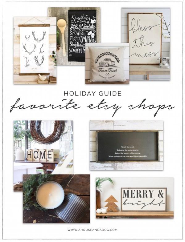 Holiday Shopping Guide - Etsy, Shop Small, Shop Handmade | helloallisonblog.com