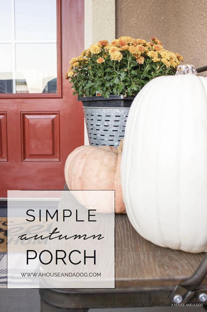 Simple & Neutral Autumn Porch | helloallisonblog.com