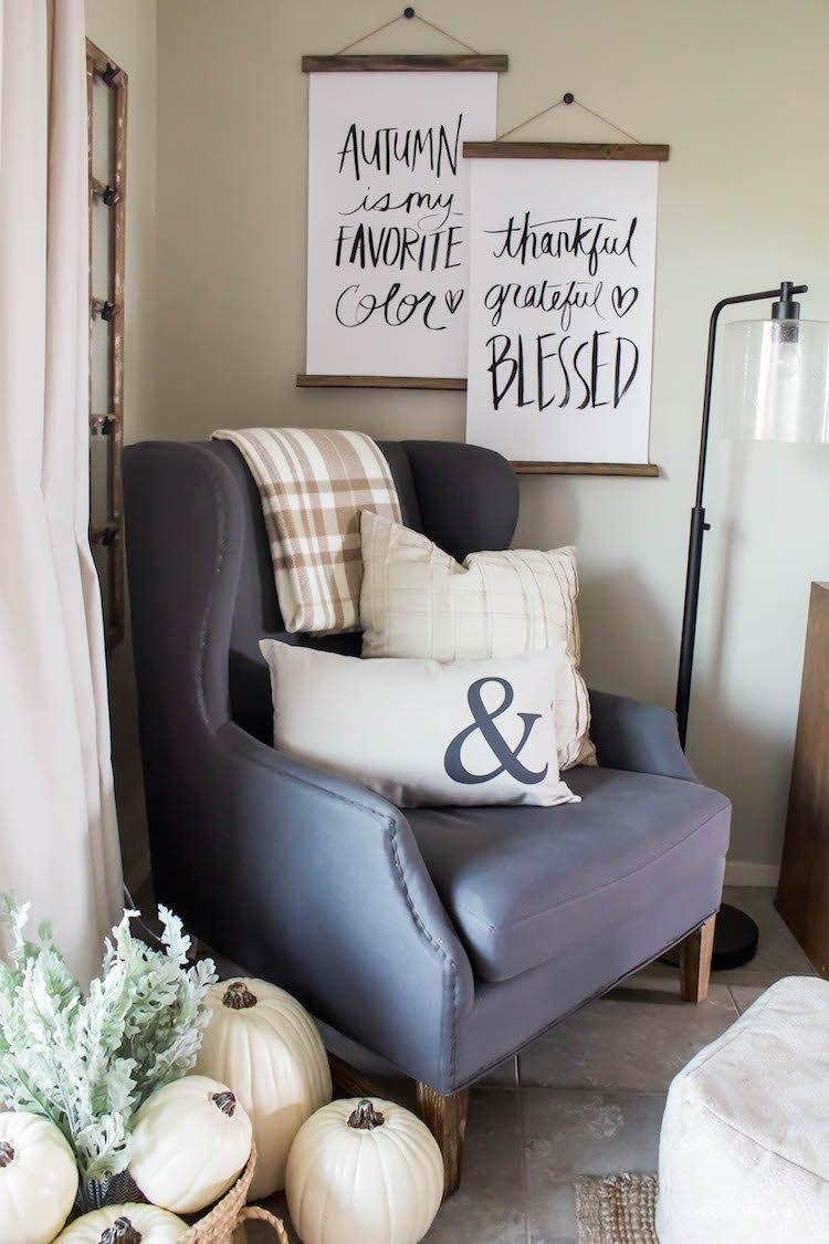 Decorating for Fall - Simple & Easy   helloallisonblog.com
