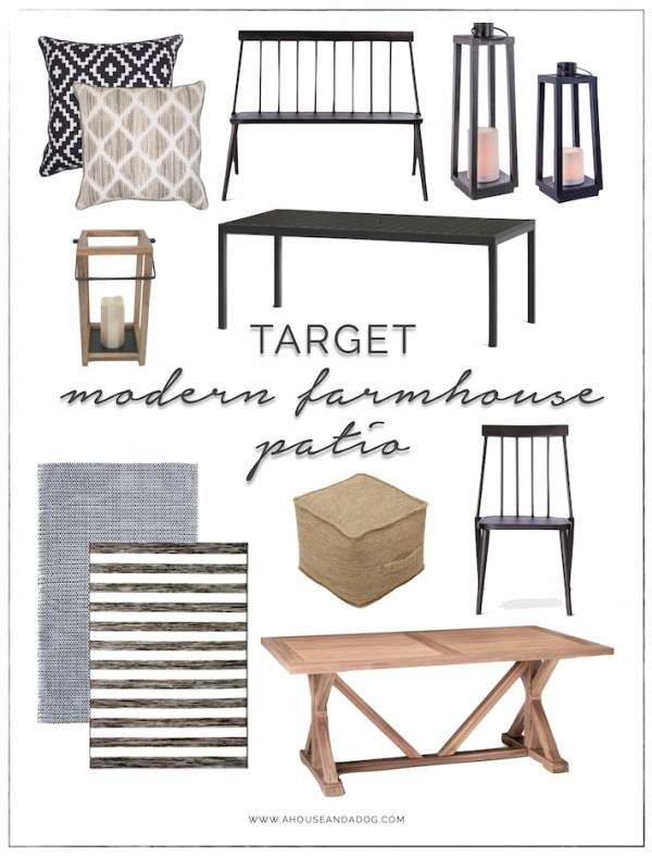 Modern Farmhouse Patio Furniture + Decor from Target | helloallisonblog.com