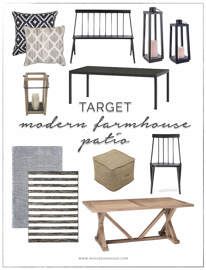 Modern Farmhouse Patio Furniture Decor From Target