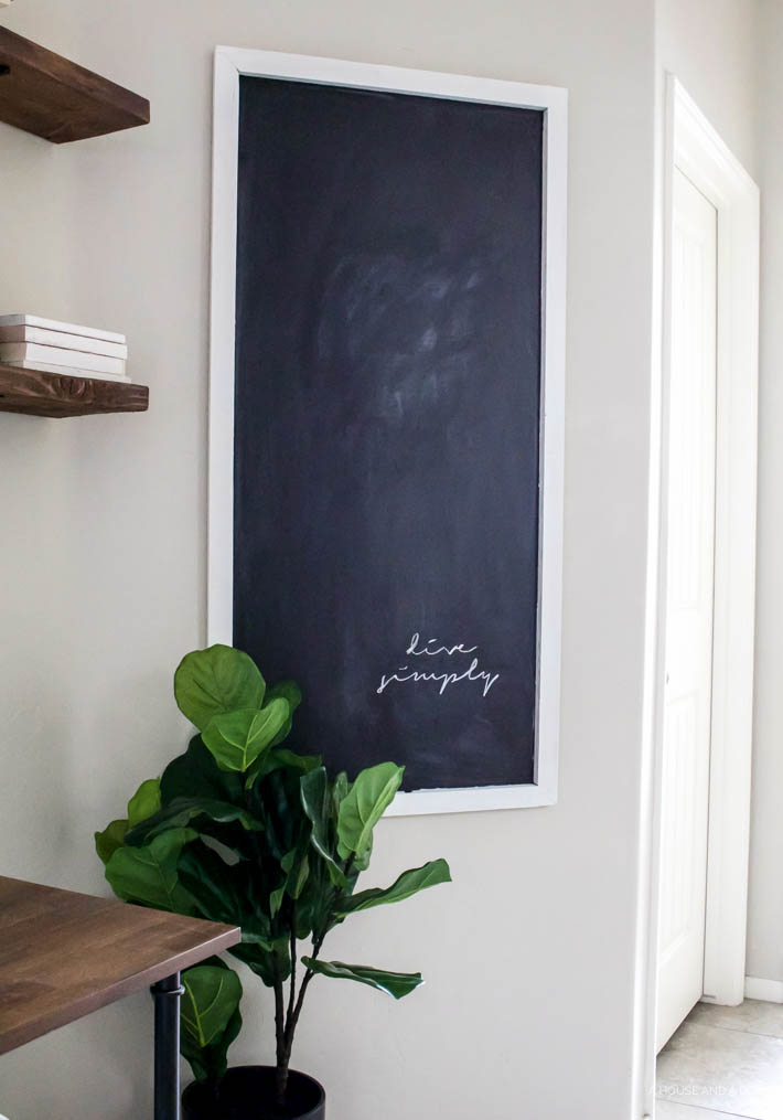 Easy DIY Chalkboard For Less Than $12 | helloallisonblog.com