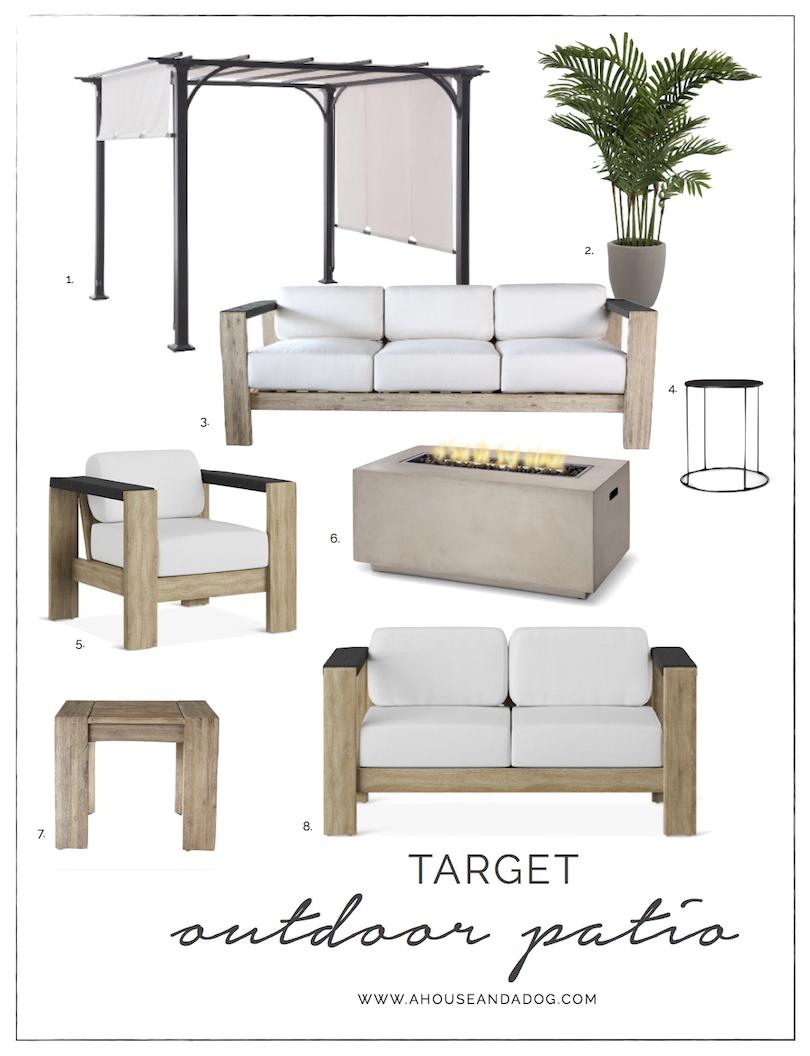 Modern Outdoor Furniture at Target | ahouseandadog.com